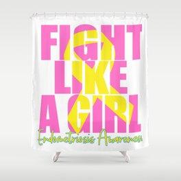 Endometriosis fight Shower Curtain