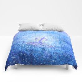 Surfer / Tribal Prints Indigo Comforters