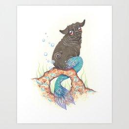 SneakyPoot - Merpug Art Print