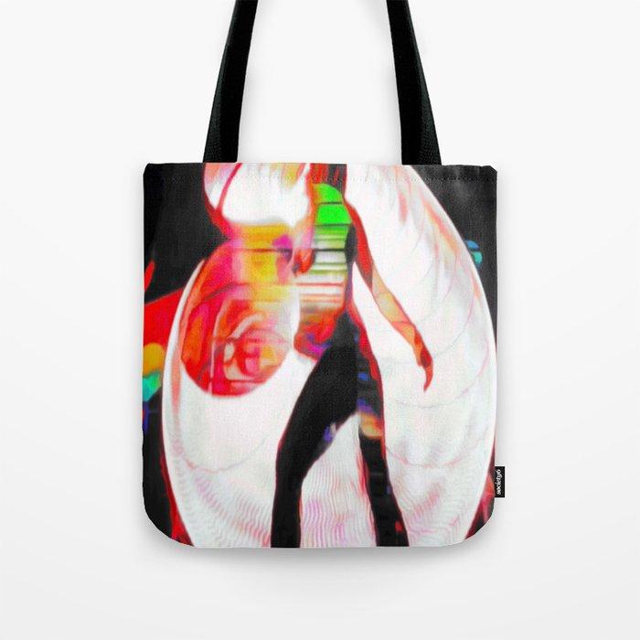 Blacklight Graffiti Tote Bag