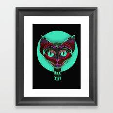 Black CAT- Black Framed Art Print