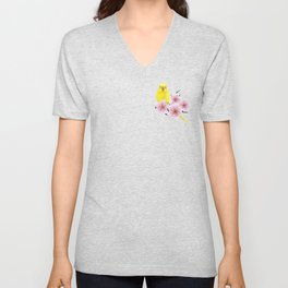 Yellow Budgerigar Unisex V-Neck