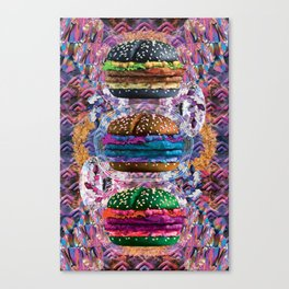 black burger doom zone Canvas Print