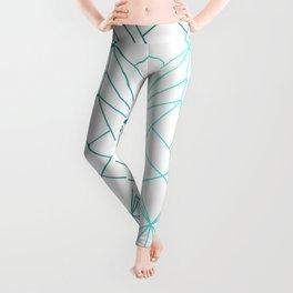 Geometric Turquoise Pattern Leggings