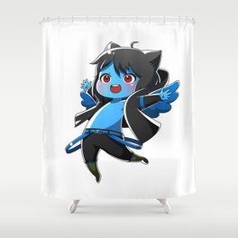 Chibi Luc (Expression 1) Shower Curtain