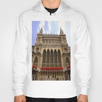 vienna Hoodies featuring Building in Vienna by Kim Ramage