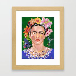 Queen Mother of Flowers - Frida collection - Framed Art Print