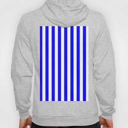 Narrow Vertical Stripes - White and Blue Hoody