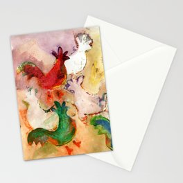 Pecking Chickens Stationery Cards