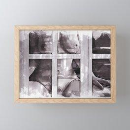 Behind The Window Framed Mini Art Print