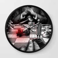 politics Wall Clocks featuring Medicine+Politics by Cleev