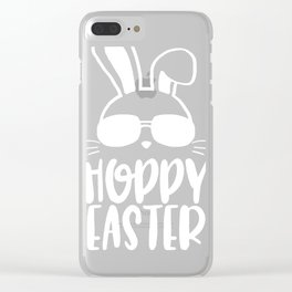 Hoppy Easter Clear iPhone Case