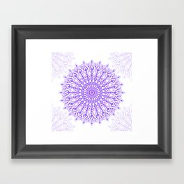 Violet mandala Framed Art Print