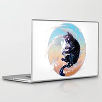 space cat Laptop & iPad Skins featuring Space Cat by Catus