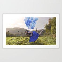 away with the butterflies Art Print
