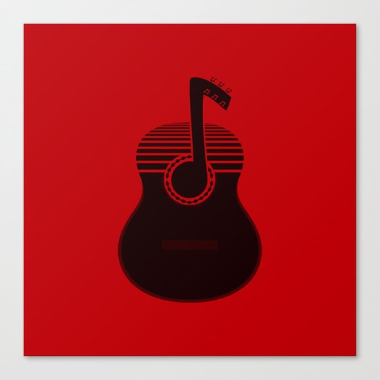Classical Notes RED Canvas Print