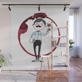 Ooh la la - the wine is good! Wall Mural