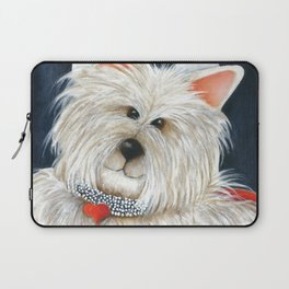 Dog Westie Terrier Original painting Deb Harvey Art Rose Laptop Sleeve