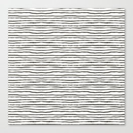 wavy stripes Canvas Print