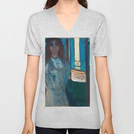 Edvard Munch - The Voice, Summer Night Unisex V-Neck