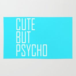 Cute But Psycho - Aqua Rug