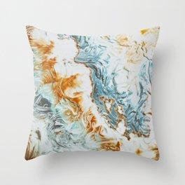 Liquid Summer Throw Pillow