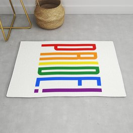 Pride! Colorful Rainbow Flag Colors LGBT Gay Pride Support Rug