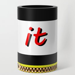 Zip it Black Yellow Red jGibney The MUSEUM Gifts Can Cooler