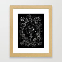 XXI. The World Tarot Card Illustration Framed Art Print