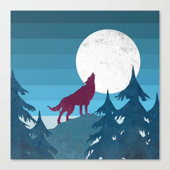 Wolf in the woods Canvas Print