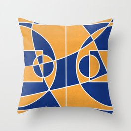 Time Out | Blue Mustard Throw Pillow