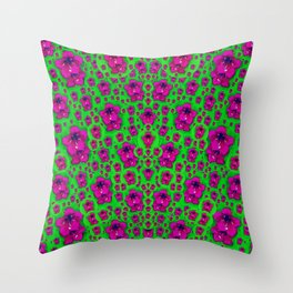 Fantasy Valentine in floral love and peace time Throw Pillow