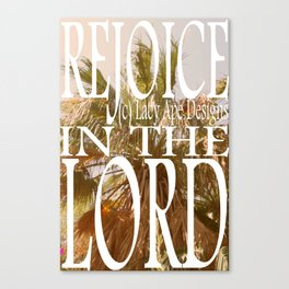 Hipster Photo: Rejoice in the Lord Canvas Print
