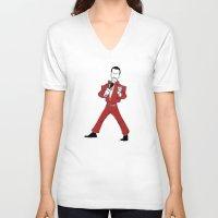 eddie vedder V-neck T-shirts featuring Eddie by Gargantiahoon