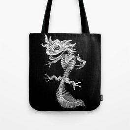 Axolotl Skeleton Tote Bag