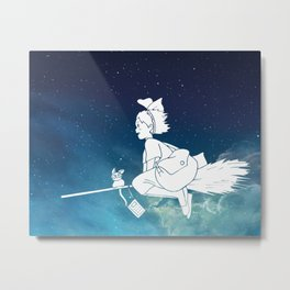 Kiki's Delivery Service Illustration Metal Print