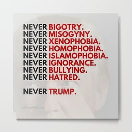 Never Trump - Political Metal Print
