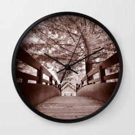 Sepia Bridge Wall Clock