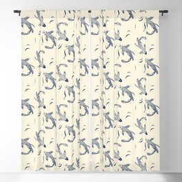 Japanese Koi Fish Pattern Blackout Curtain