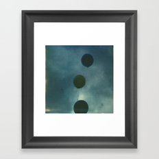 Dark Balloons Framed Art Print