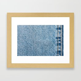 Jeans Pocket With Denim Texture, Jeans Texture, Denim Texture, Textured Background Cover, Pattern Framed Art Print