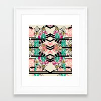 austin Framed Art Prints featuring Austin by Pattern State