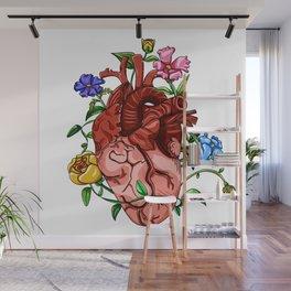An Overgrown Floral Heart Wall Mural