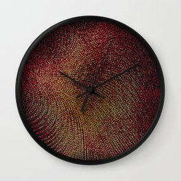 Warm Ruby Mist Wall Clock