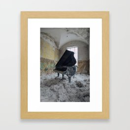 The Grand, abandoned piano Framed Art Print