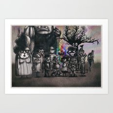 Ms. Nebun's Academic Spook Class Photo Art Print