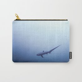 Thresher shark in the blue Carry-All Pouch