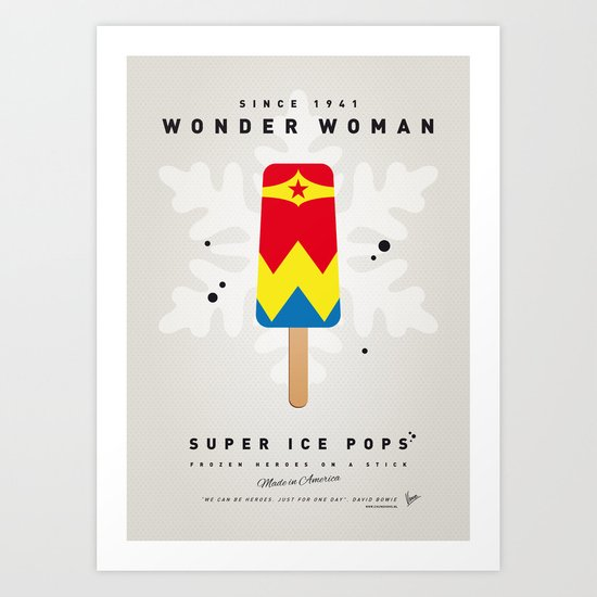 My SUPERHERO ICE POP - woman - No17 WONDER Art Print