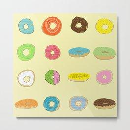 Sixteen Donuts  -Yellow Metal Print