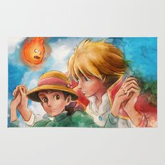 Sophie and Howl from Howl's Moving Castle Tra-Digital Painting Rug